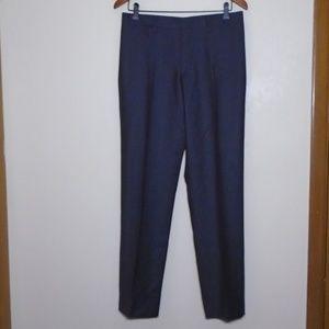 Burberry Pinstripe Dark Grey Trousers Size 14